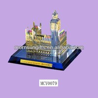 Home Decor Exquisite Big ben Clear resin model kit