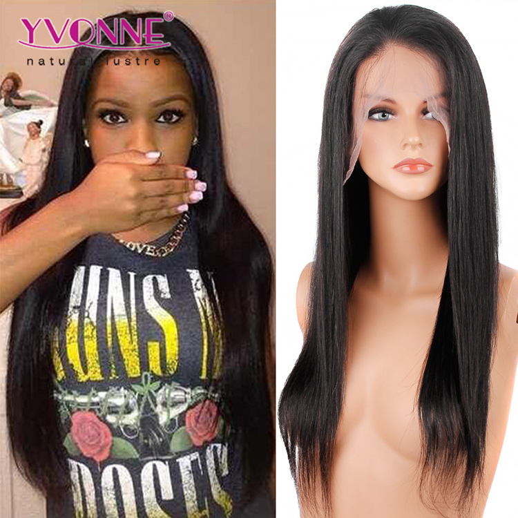 Best Selling Brazilian Natural Straight Full Lace Wig Manufacturers