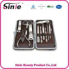 Portable Personal care Silver Color Pedicure Kit 12pcs Mini Nail Manicure Set
