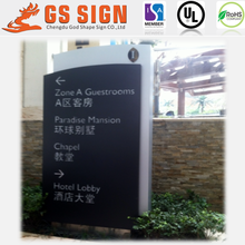 Outdoor aluminum led lighted hotel sign board