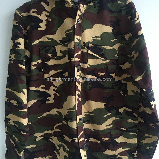 men's camouflage printed shirt 2017S