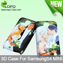 Wholesale 3D sublimation machine phone case for Samsung Galaxy S4 Mini