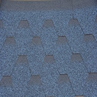 Blue Color Glass Fiber Based Asphalt Roofing Shingles