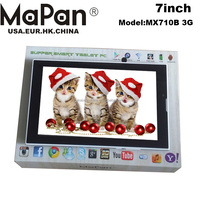 MaPan mini pc android 7inch tablet 3g sim card slot built-in 3G phone calling BT Android4.4 3g tablet MX710B 3G