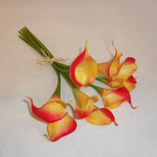 artificial flowers manufacturer in guangzhou colors artificial orange calla bouquets