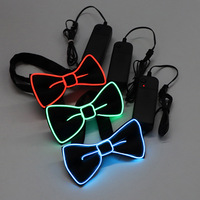 Light Up Bow Tie LED El wire Tie for Party Christmas Rave Party Gift