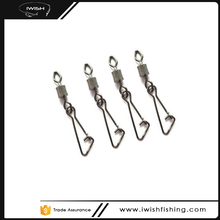 Low Price Diamond Impressed Rolling Swivel With Hooked Snap For Fishing Accessories