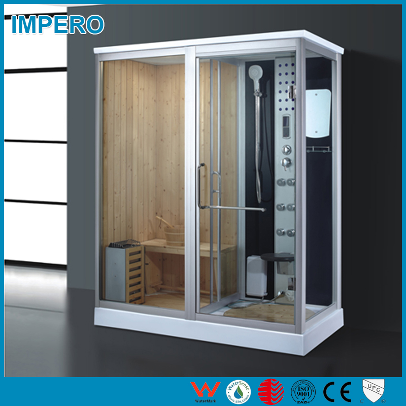 Manufacturer directly supply steam shower room with dry sauna