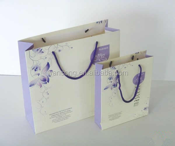 Custom printing decorative fashion gift packaging paper bag luxury shopping bag