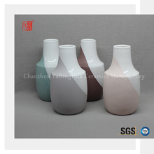 China ceramic big bottle shape home flower vase with long neck