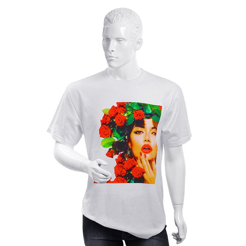 Brand Cotton T-shirt With 3D Digital Printing DTG Printing T-shirt