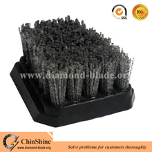 China cheap stone carborundum nylon brush for granite marble abrasive