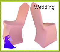 Nantong Wedding Textile !!! 50PCS Pink spandex chair cover for wedding