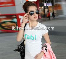 2013 summer popular women's all-match letter the trend of the short-sleeve T-shirt