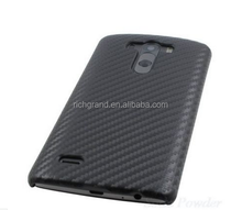 Luxury black Carbon Fiber Hard Phone Cover Case For LG G3
