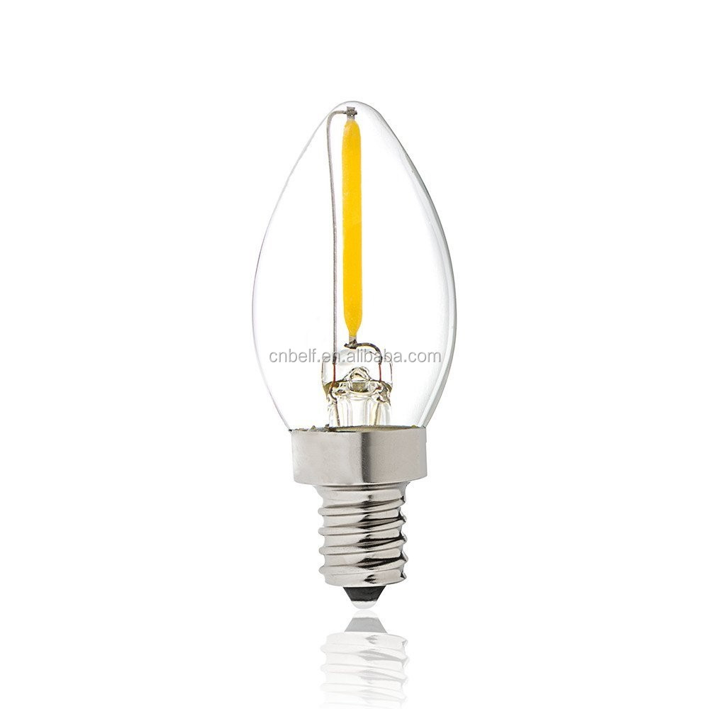 Led lighting manufacturer c7 mini 2200K 0.5W 1W christmas dimmable light bulb for holiday