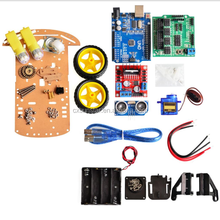 New Avoidance tracking Motor /Smart Robot Car Chassis Kit /Speed Encoder Battery Box 2WD Ultrasonic module