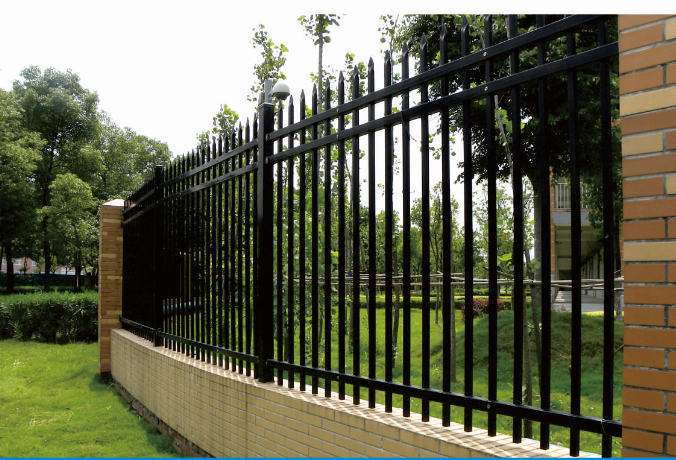 High security fence steel picket square