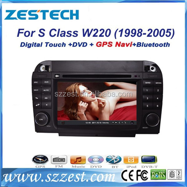 ZESTECH car dvd player gps for Benz S Class W220 with radio gps navi, digital tv optional