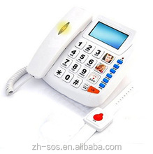 SOS emergency telephone handset and ringer volume control