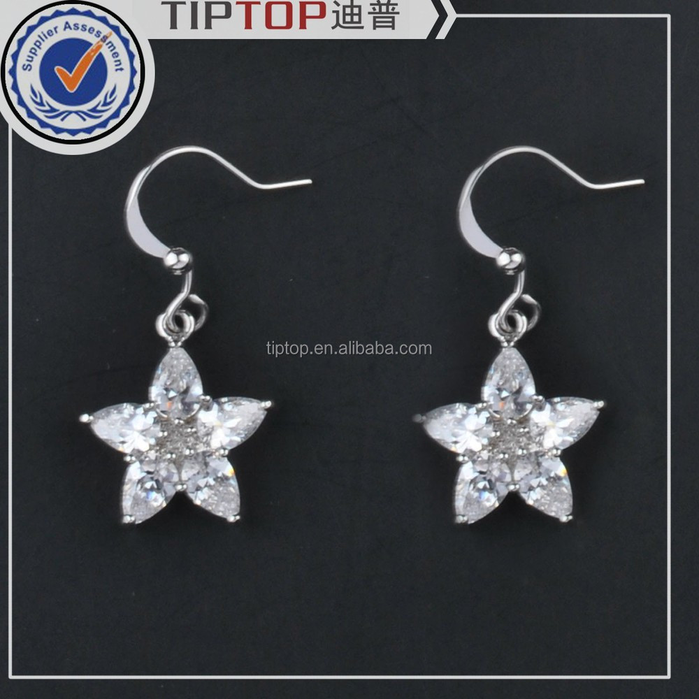 2015 new hot custom jewelry rhinestone drop earrings wholesale