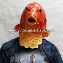 Deluxe Quality Latex Animal Mask Realistic Fish Mask Popular Carp Fancy Dress Mask for Adult Animal Costume