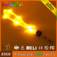 2015 new arrival LED rechargeable lanyard flashing straps