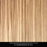 sliced cut laminated reconstituted zebrano wood commercial face veneer