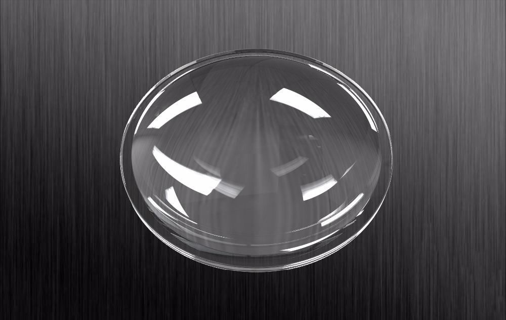100mm diameter 90 degree high bay light optical lens ,high borosilicate glass lens