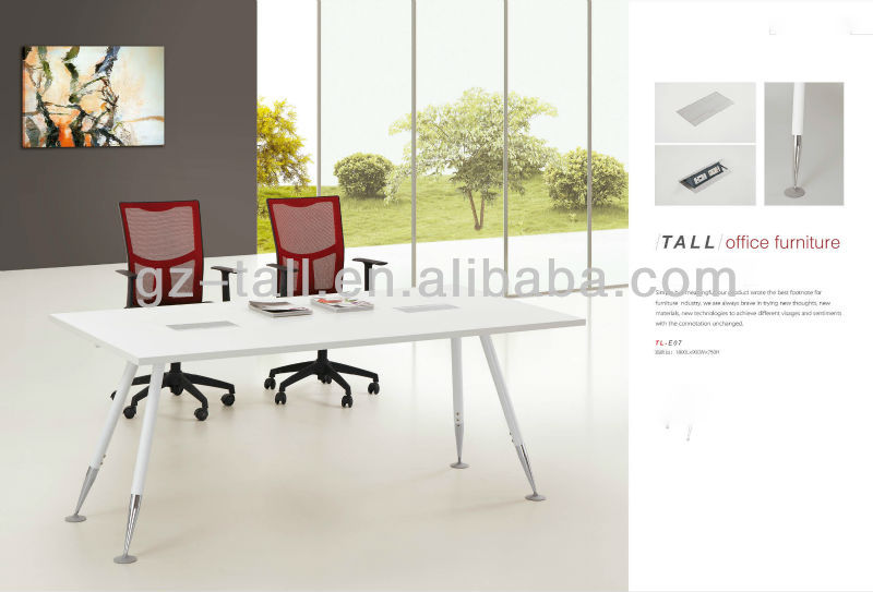 2013 popular wood white conference table for boardroom