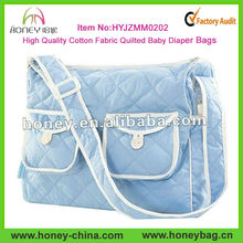 Fashion Comfortable Roomy Cotton Quilted Mother Diaper Bag