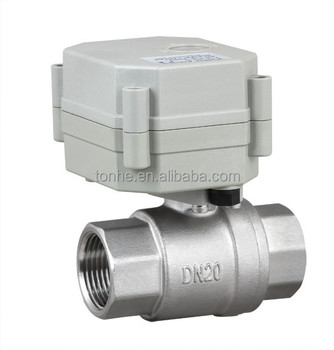 High Quality NSF61-G 3/4 inch Electric Control Stainless Steel Ball valve motorized flow valve for heating systerm (T20-S2-C)