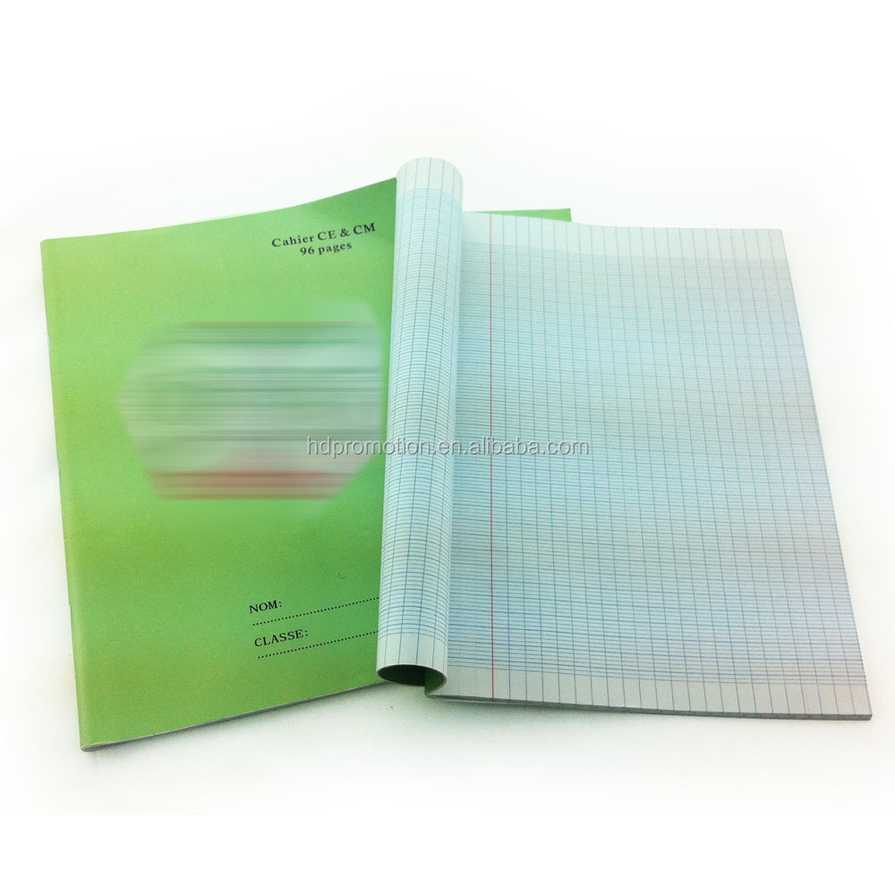 French line 96 pages a4 Exercise book for school