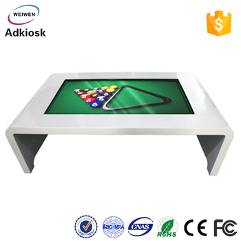 white design floor stand 46inch led multi touch interactive advertisng touch table price