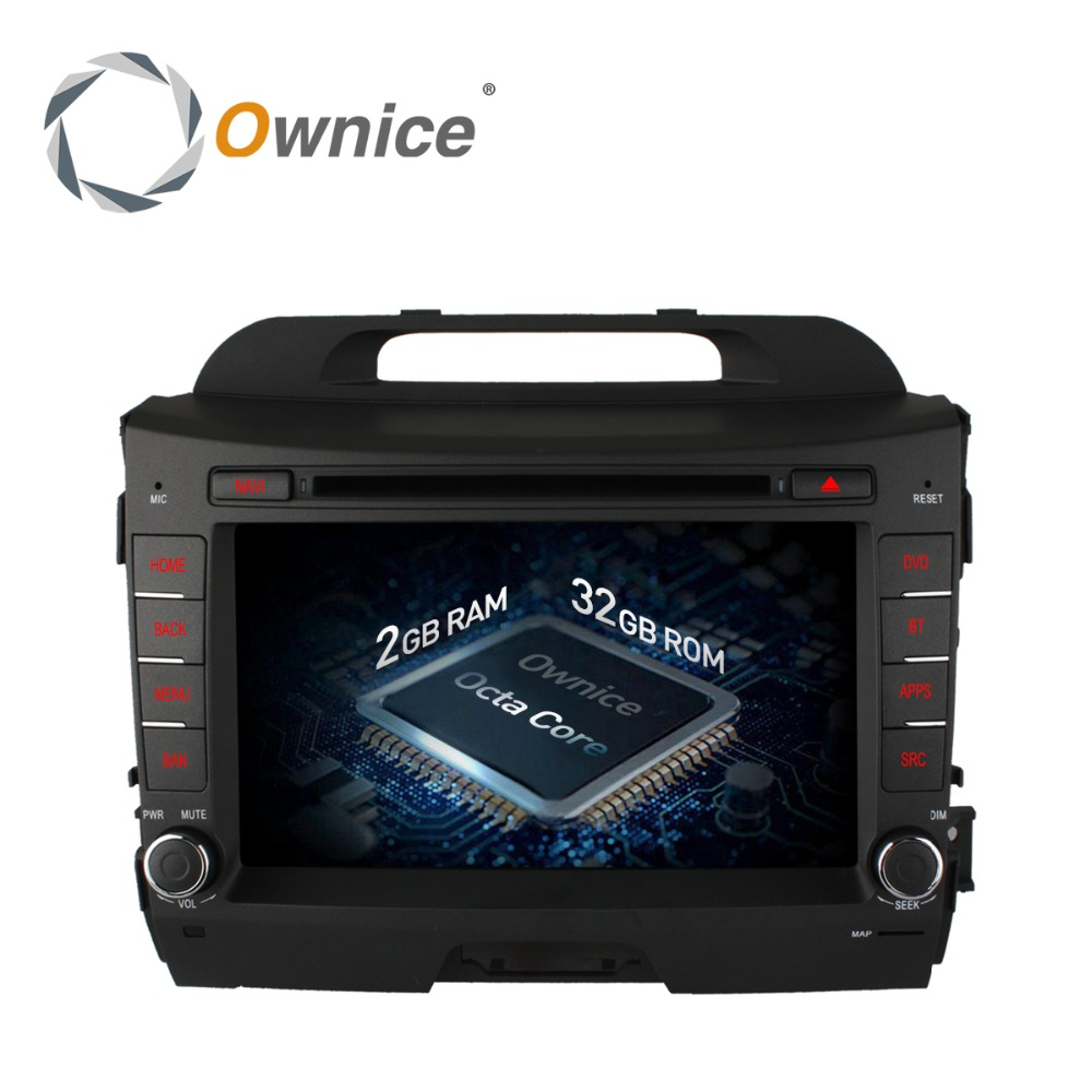 Ownice 8core 32GB ROM 2GB RAM Android 6.0 Car GPS navi for Sportage R 2010 - 2015 support 4G LTE TPMS DAB+