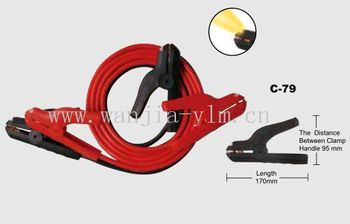 Led lighted booster cable