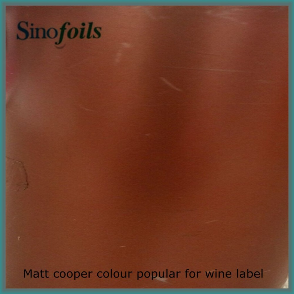 PET material Copper color Hot stamping foil for wine labels