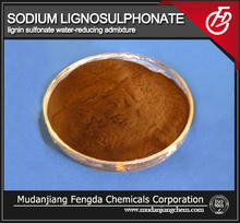 Sodium lignosulphonate used in construction chemicals for concrete industry