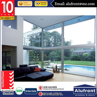 Australian standard outdoor aluminium lift sliding door with 3 panels and with double toughened glass