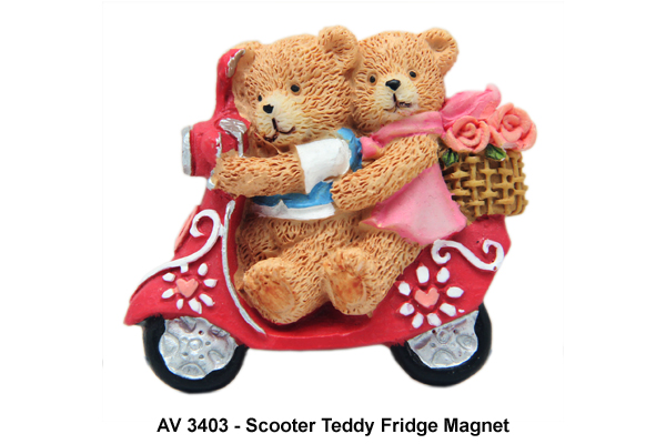 Scooter Teddy Fridge Magnet
