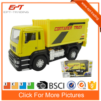 Wholesale pull back cars diecast container truck model with light