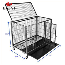 Wholesale welded large dog cages with wheels