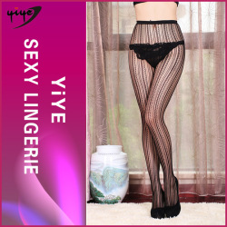 New design black lace small hollow school girl sexy stockings