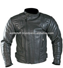 Men's Comfortable High Quality Genuine Leather Motorbike Jackets