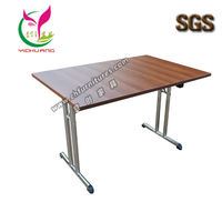 New design melamine table top, stainless steel frame, foldable conference table YC-T14L