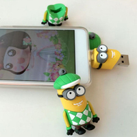Cute Minion Shaped 1gb / 2gb / 4gb Custom PVC OTG USB Flash Drive For Iphone