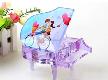 Sublimation be hilarious crystal photo frames crystal wedding gift crystal piano