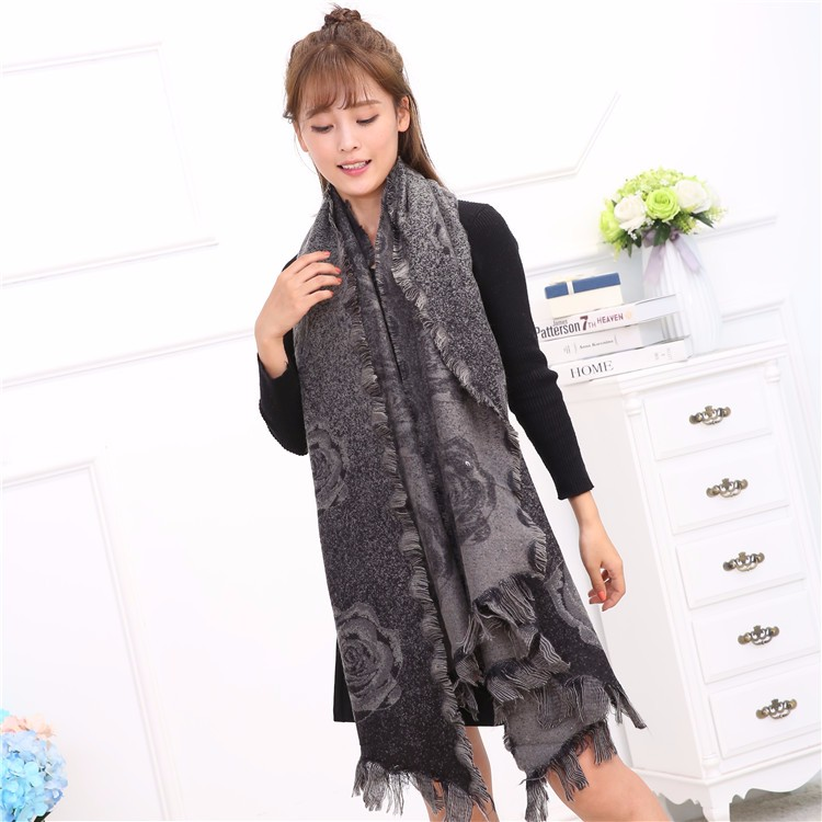 Wholesale Cheap Solid Color Chiffon Scarf,Winter Fashionable Scarf,Poly Lady Scarf