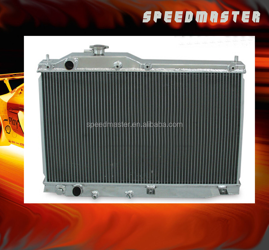 Hand-welded aluminum auto radiator for CHEVY IMPALA 80-85 AT electric fan 24V