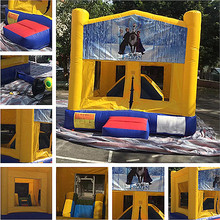 Good price children inflatable jumping bed, small inflatable bouncer kids for outdoor